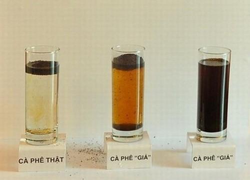 Nhận diện cà phê nguyên chất